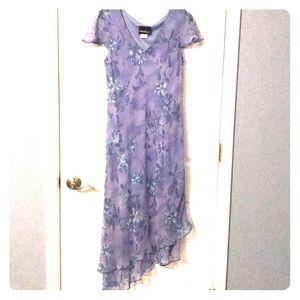 Petite purple summer dress